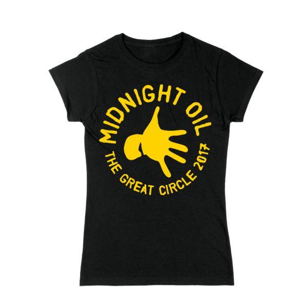Hand Women's Black Tshirt The Great Circle 2017 Tour
