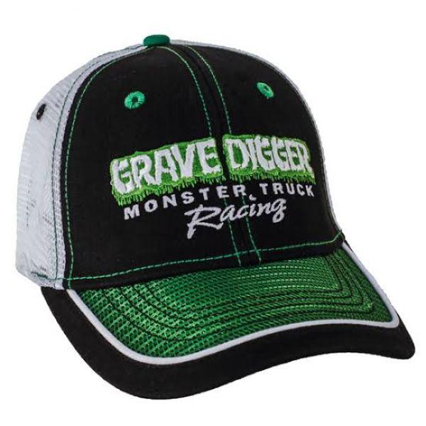 Grave Digger Green Mesh Bill Cap