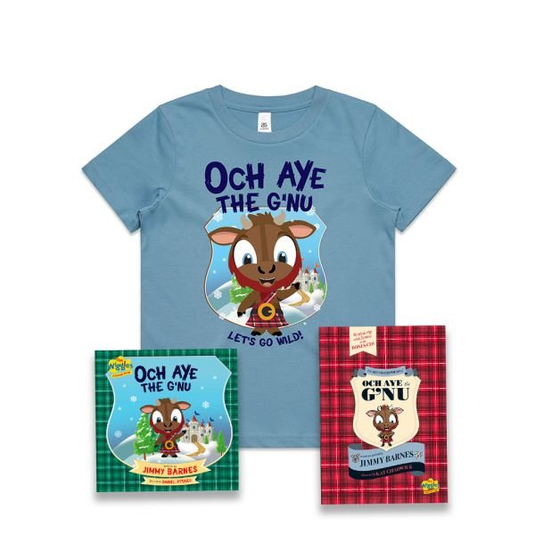 The Recorded Poems of Och Aye The G'nu/ Och Aye The G'nu and Blue Kids Tshirt