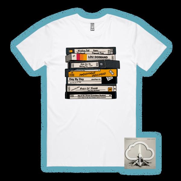 Unreleased 1998-2010 LP (Digital Download)/ VHS White Tshirt
