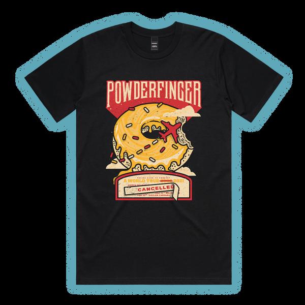 POWDERFINGER - Doughnut Unisex Black Tshirt