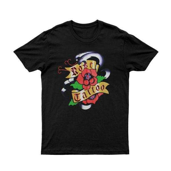 Purple Snakes/Roses Black Tshirt (No Back Print)