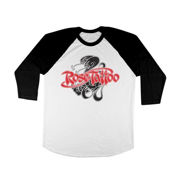 Snakes Black/White Raglan Tshirt