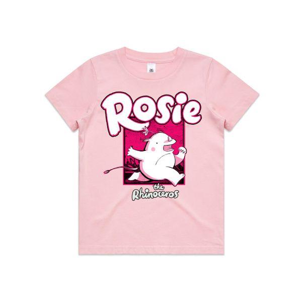ROSIE THE RHINOCEROS PINK KIDS TSHIRT
