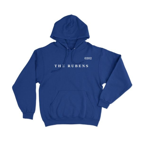 Text Embroidery Blue Hoody