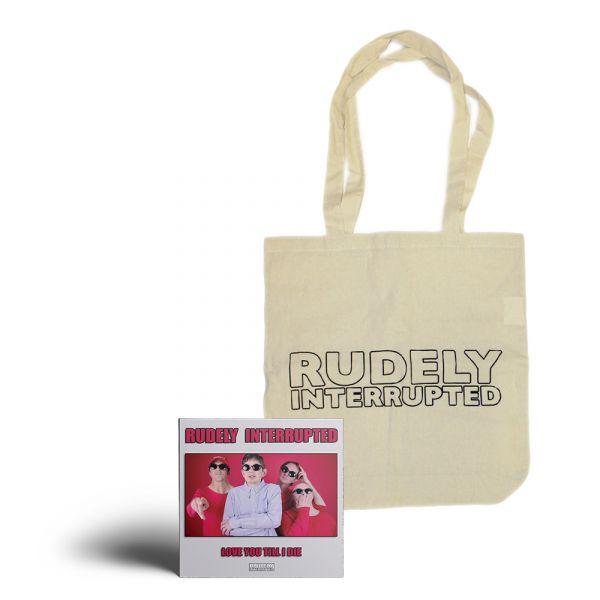 'Love You Till I Die' CD and Logo Natural Color Tote Bag Pack