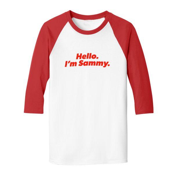 Major Party Tour Dates Red/White Raglan Tshirt