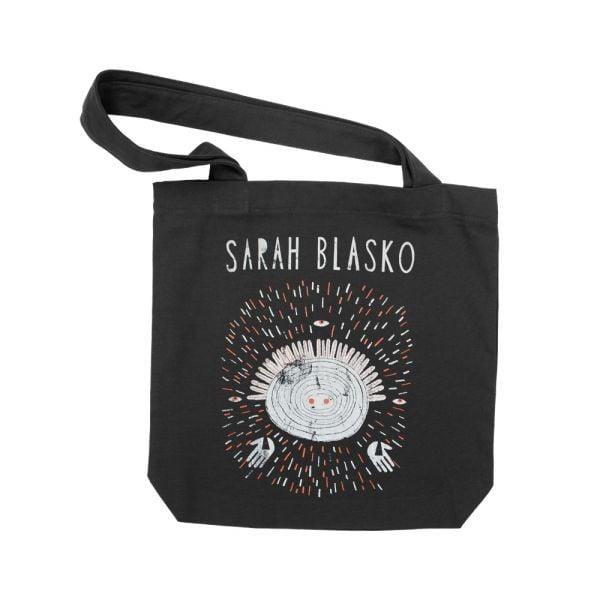 Logo Galaxy Black Tote Bag