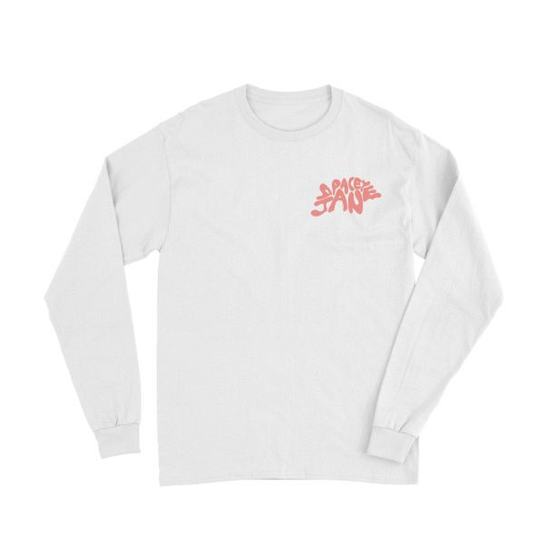 Swirl Logo White Long Sleeve Tshirt