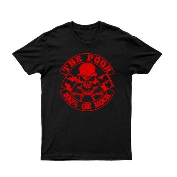 The Poor 100% Oz Rock/Reckless Records Black Tshirt
