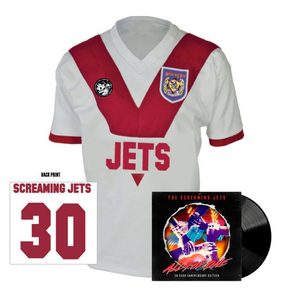 All For One - 30 Year Anniversary Edition Jersey (White/Red) + Black Vinyl
