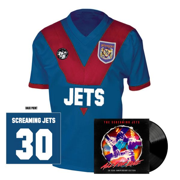 All For One - 30 Year Anniversary Edition Jersey (Blue/Red) + Black Vinyl