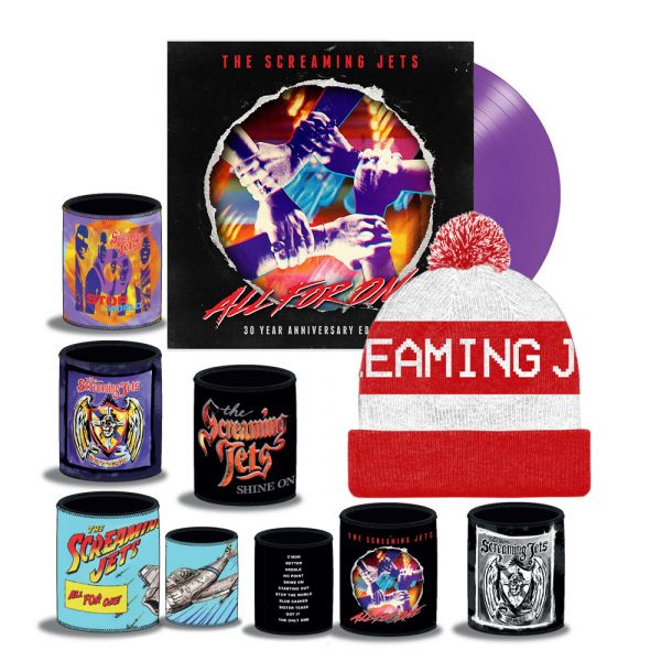 All For One - 30 Year Anniversary Edition Purple Vinyl (LP) + White/Red Beanie + Stubby Bundle Pack