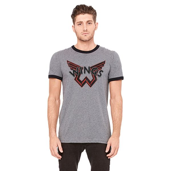 Wings Dark Grey Ringer Tshirt One On One World Tour 2017